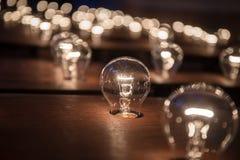 Muchas bombillas Fotografía de archivo