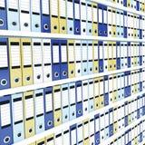 Muchas carpetas de la oficina Imagen de archivo libre de regalías