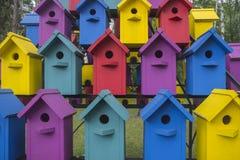 Muchas casas coloridas para el pájaro 2 Fotos de archivo libres de regalías
