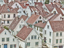 Muchas casas de madera Foto de archivo libre de regalías