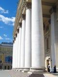 Muchas columnas Teatro de Bolshoi en Moscú Imagen de archivo libre de regalías
