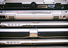 Muchas computadoras portátiles Imagen de archivo libre de regalías