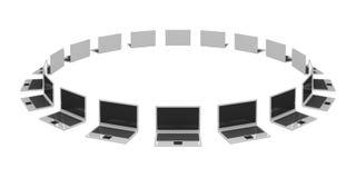 Muchas computadoras portátiles Fotografía de archivo