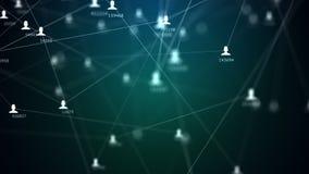 Muchas conexiones beetween de los hombres y de las mujeres, vídeo 4k