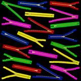 Muchas cremalleras coloreadas Fotos de archivo libres de regalías
