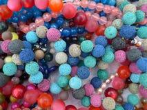 Muchas cuentas de cristal coloridas Fotografía de archivo