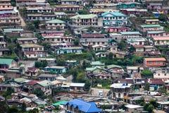 Muchas de las casas de la ladera, Nuwara Eliya, Sri Lanka Foto de archivo libre de regalías