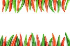 Muchas de pimienta de chile candente Foto de archivo
