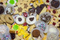 muchas diversas galletas imagen de archivo libre de regalías