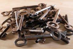 Muchas diversas llaves, aficiones y reuniones Imágenes de archivo libres de regalías