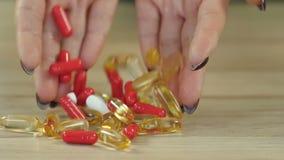 Muchas diversas píldoras almacen de video
