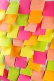 Muchas etiquetas engomadas coloridas Fotografía de archivo