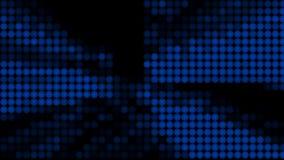 Muchas filas de las bolas que cambian color - la abstracción moderna, fondo generado por ordenador, 3D rinde ilustración del vector