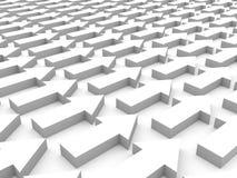 Muchas flechas blancas que acercan al éxito Imágenes de archivo libres de regalías