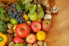 Muchas frutas y verduras Foto de archivo libre de regalías