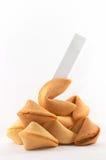 Muchas galletas de fortuna chinas empiladas para arriba Fotografía de archivo