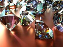 Muchas gemas dispersadas Fotografía de archivo