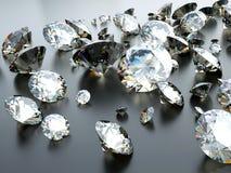 Muchas gemas dispersadas Fotos de archivo libres de regalías