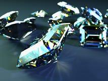 Muchas gemas dispersadas Imágenes de archivo libres de regalías