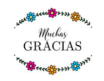 Muchas Gracias Стоковые Фотографии RF