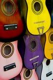 Muchas guitarras foto de archivo libre de regalías
