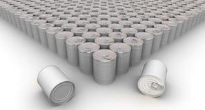 Muchas latas Imágenes de archivo libres de regalías