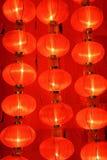 Muchas linternas hinese del  rojo de Ñ Imagen de archivo libre de regalías