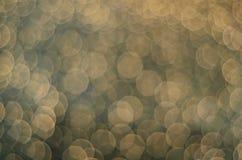 Muchas luces redondas del unscarbe que brillan intensamente Fotos de archivo libres de regalías