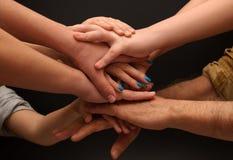Muchas manos Foto de archivo libre de regalías