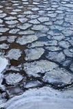 Muchas masas de hielo flotante Imágenes de archivo libres de regalías