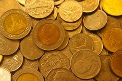 Muchas monedas Fotografía de archivo libre de regalías