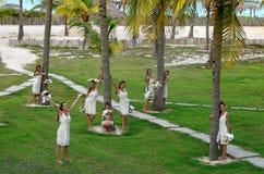 Muchas novias con diversos humores en una persona entre PAL Fotografía de archivo libre de regalías