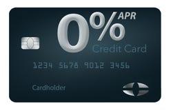 Muchas ofertas de la tarjeta de crédito ahora incluyen porcentaje anual del cero por ciento por 12-15 meses y esta tarjeta falsa  ilustración del vector