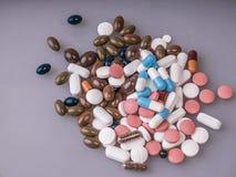 Muchas píldoras Fotografía de archivo
