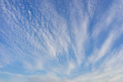 Muchas pequeñas nubes Foto de archivo libre de regalías