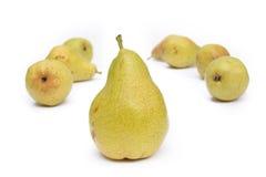 Muchas peras amarillas Foto de archivo