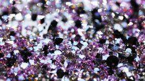 Muchas piedras brillantes de la joya, fondo de lujo almacen de metraje de vídeo