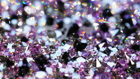 Muchas piedras brillantes de la joya, fondo de lujo almacen de video
