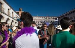 Muchas plumas en la plaza Alta Foto de archivo