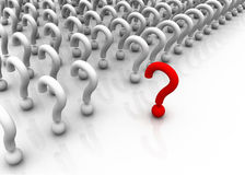 Muchas preguntas con la única Imagen de archivo libre de regalías