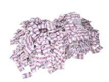 Muchas quinientos cuentas euro Fotografía de archivo libre de regalías