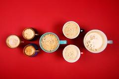 Muchas tazas de café Fotos de archivo