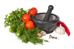 Muchas verduras frescas aisladas Imagen de archivo libre de regalías