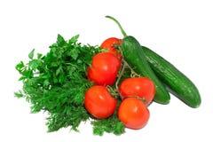 Muchas verduras frescas aisladas Fotografía de archivo libre de regalías