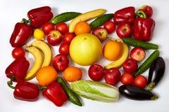 Muchas verduras y fruta maduras Foto de archivo libre de regalías