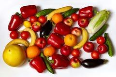 Muchas verduras y fruta sabrosas Fotos de archivo libres de regalías