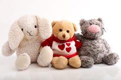 Muchedumbre alegre de juguetes de la felpa Imagen de archivo libre de regalías