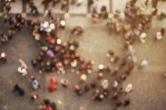 Muchedumbre borrosa de gente Visión superior Foto de archivo