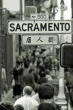 Muchedumbre de Chinatown Fotografía de archivo libre de regalías