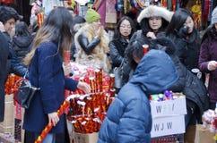 Muchedumbre de Chinatown Imagen de archivo libre de regalías